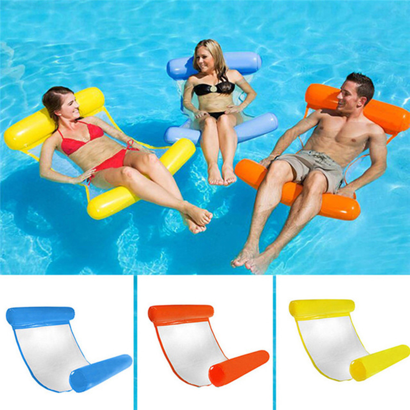 Piscine-d-039-ete-Hamac-d-039-eau-Chaise-flottante-Lit-flottant-PVC-Eau-de-baignade-SC miniature 9