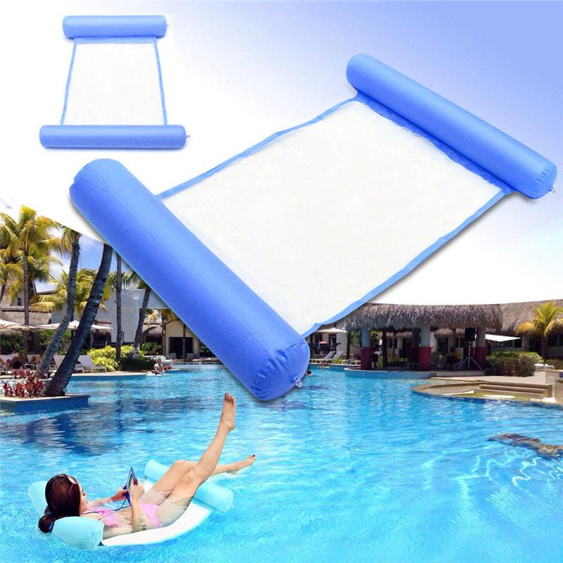 Piscine-d-039-ete-Hamac-d-039-eau-Chaise-flottante-Lit-flottant-PVC-Eau-de-baignade-SC miniature 23