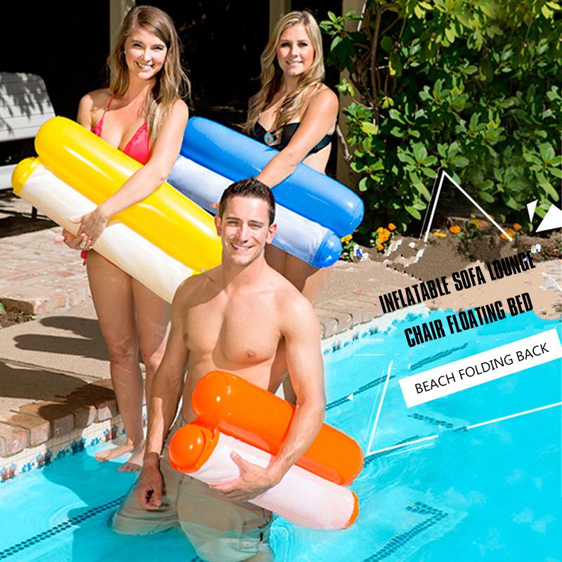 Piscine-d-039-ete-Hamac-d-039-eau-Chaise-flottante-Lit-flottant-PVC-Eau-de-baignade-SC miniature 24