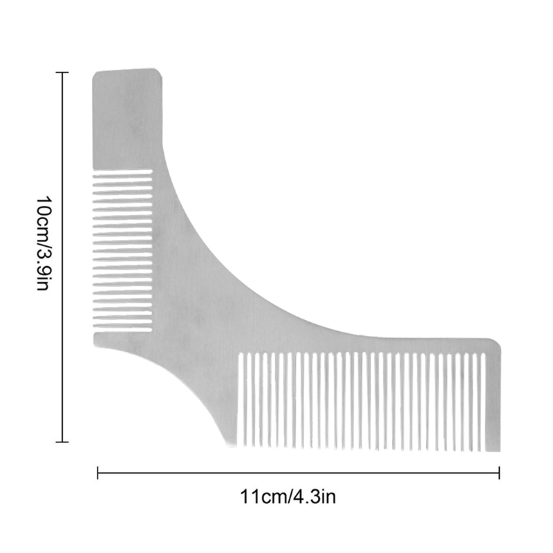 image regarding Beard Shaping Template Printable referred to as Info regarding 6X(Stainless Metal Beard Styling Shaping Template Comb Facial Hair Resource M8L4) T7