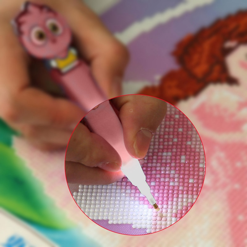 Glowing Cartoon Drill Pen DIY Diamonds Painting Diamond Painting Cross Stit A4G8