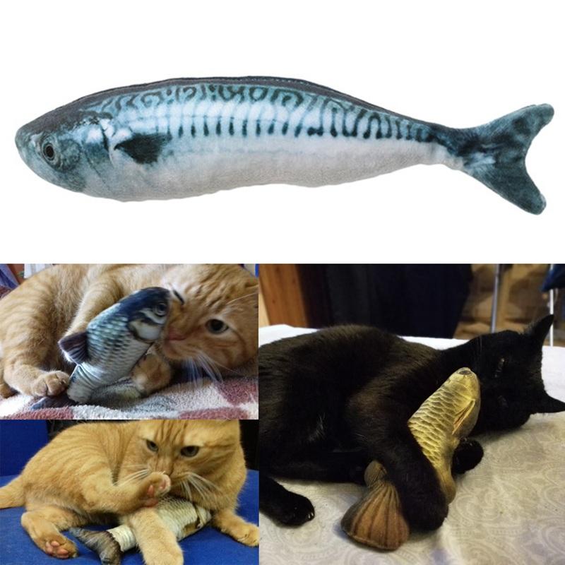 Indexbild 2 - 3X(Interaktive Katze Spielzeug Katze Mint spielen Fisch Form Plueschtiere b M8Y9
