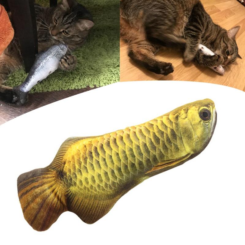 Indexbild 6 - Interaktive Katze Spielzeug Katze Mint spielen Fisch Form Plueschtiere besc Y9G1