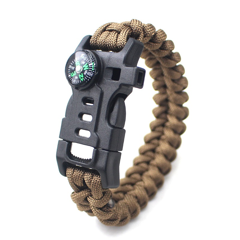 thumbnail 11 - 5 in 1 Multifunctional Outdoor compass Survival Weaving Bracelet,Umbrella R H2Z1
