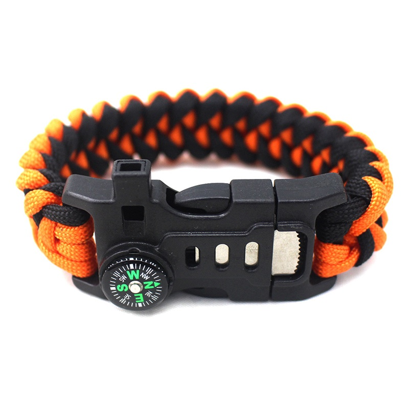 thumbnail 25 - 5 in 1 Multifunctional Outdoor compass Survival Weaving Bracelet,Umbrella R H2Z1