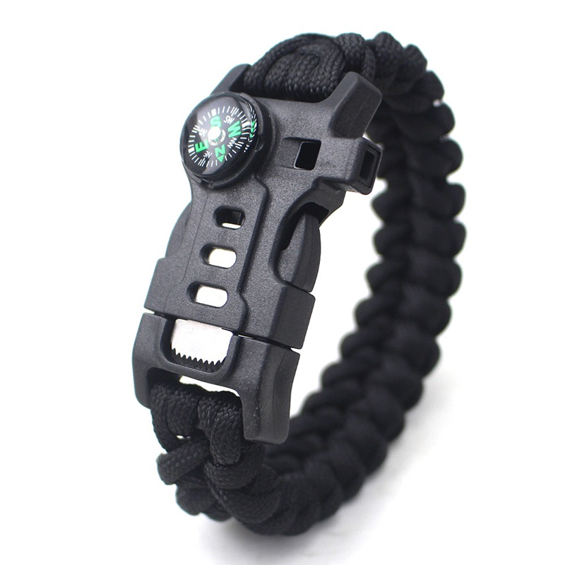 thumbnail 12 - 5 in 1 Multifunctional Outdoor compass Survival Weaving Bracelet,Umbrella R Q2S7