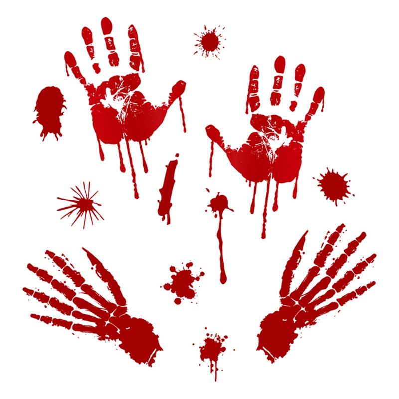 TAPIS BLANC 3,10mX61cm de sang Traces Pieds Sanglants Décoration HALLOWEEN NEUF