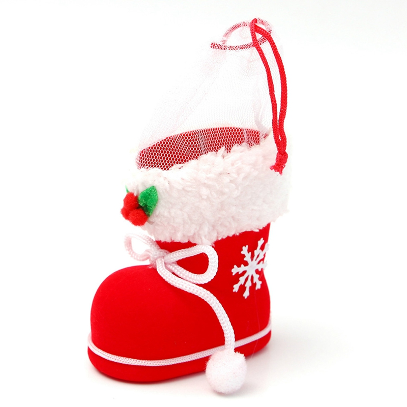 Christmas Shoe.Details About 1pcs Gift Candy Christmas Shoes Xmas Decoration Tree Boots Stocking Hanging I8k4