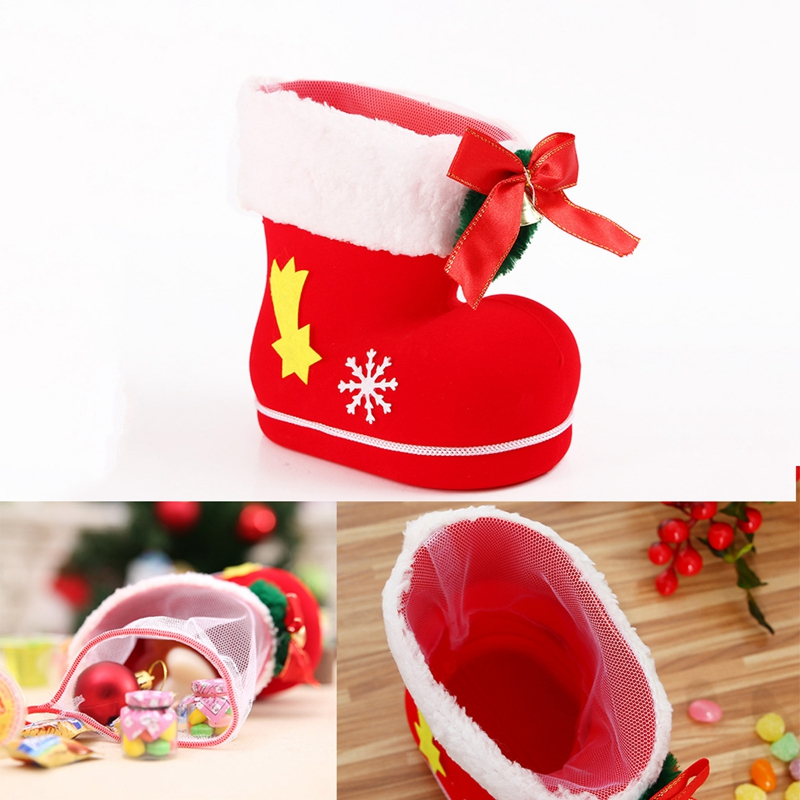 Christmas Shoes Diy.Details About W2q2 1pcs Gift Candy Christmas Shoes Xmas Decoration Tree Boots Stocking Hanging