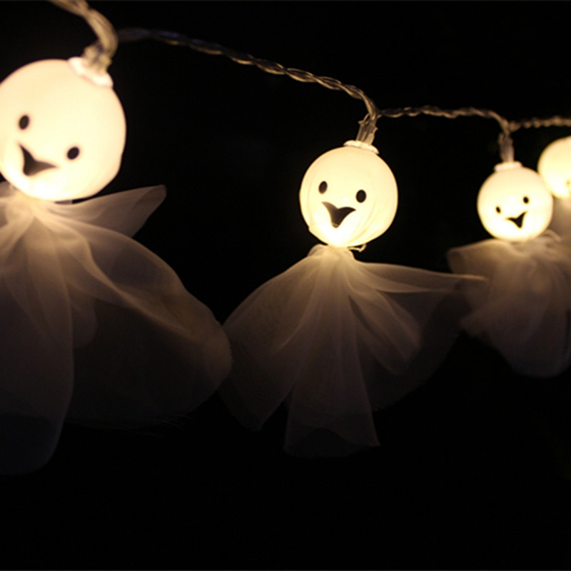 1-2M-10LED-Ghost-String-Lights-For-Halloween-Party-Decor-Halloween-String-L-D8T4 thumbnail 4