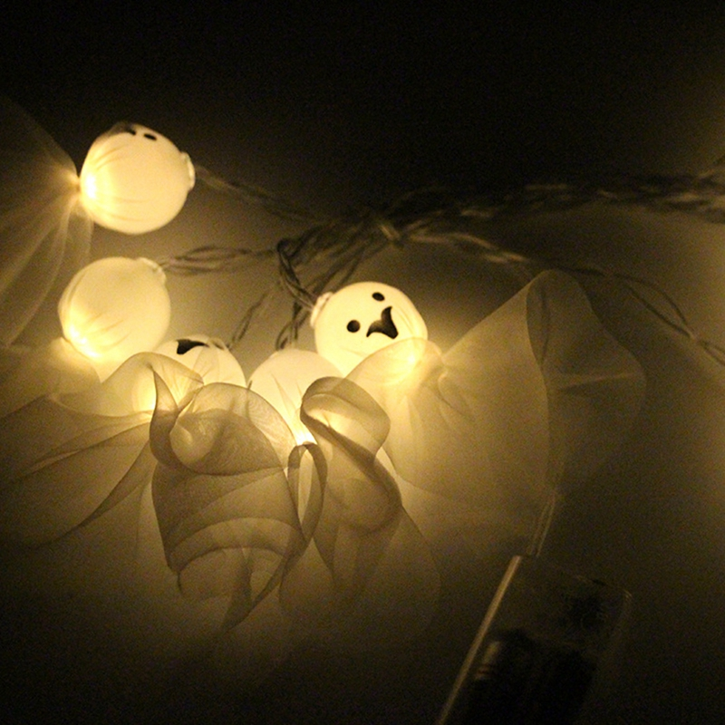 1-2M-10LED-Ghost-String-Lights-For-Halloween-Party-Decor-Halloween-String-L-D8T4 thumbnail 7