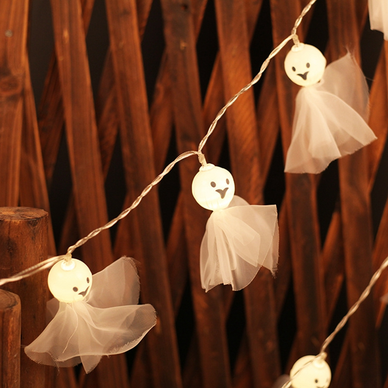 1-2M-10LED-Ghost-String-Lights-For-Halloween-Party-Decor-Halloween-String-L-D8T4 thumbnail 8