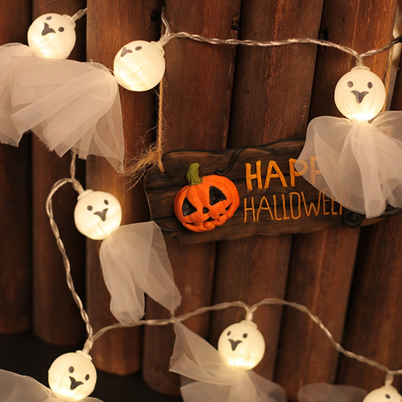 1-2M-10LED-Ghost-String-Lights-For-Halloween-Party-Decor-Halloween-String-L-D8T4 thumbnail 10