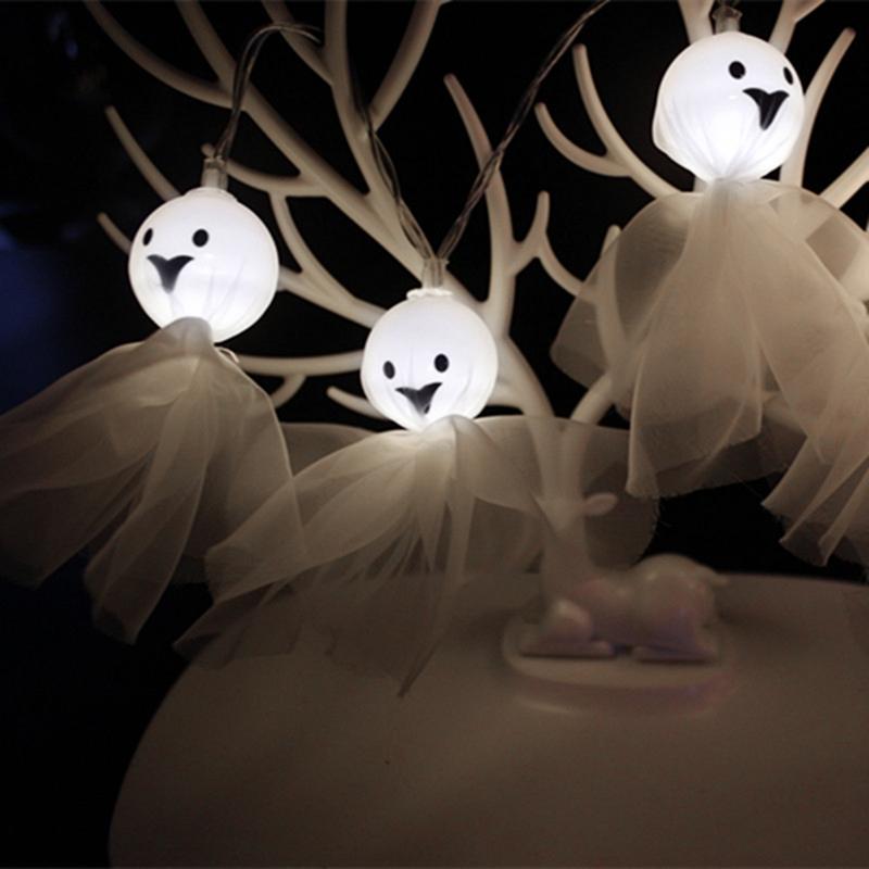 5M-40LED-Ghost-String-Lights-For-Halloween-Party-Decor-Halloween-String-Lig-U8Z1 thumbnail 3