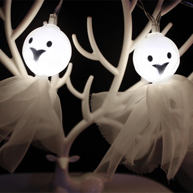 5M-40LED-Ghost-String-Lights-For-Halloween-Party-Decor-Halloween-String-Lig-U8Z1 thumbnail 4