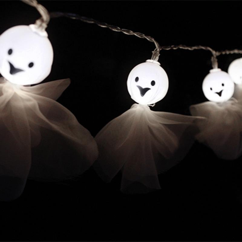 5M-40LED-Ghost-String-Lights-For-Halloween-Party-Decor-Halloween-String-Lig-U8Z1 thumbnail 5