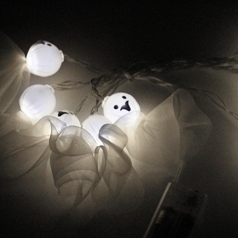 5M-40LED-Ghost-String-Lights-For-Halloween-Party-Decor-Halloween-String-Lig-U8Z1 thumbnail 6