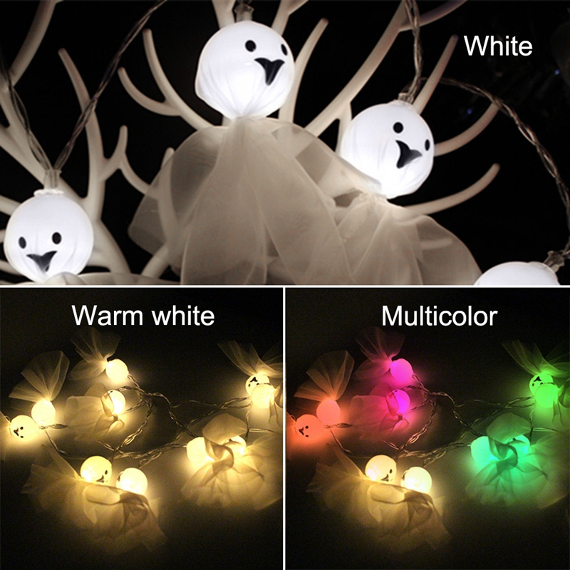 5M-40LED-Ghost-String-Lights-For-Halloween-Party-Decor-Halloween-String-Lig-U8Z1 thumbnail 10