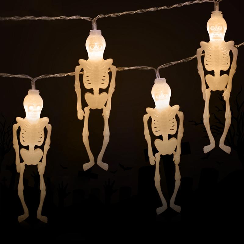 1pcs-Halloween-Decoration-String-Lights-20-LED-Skull-Skeleton-light-Hallowe-H3V5 thumbnail 3