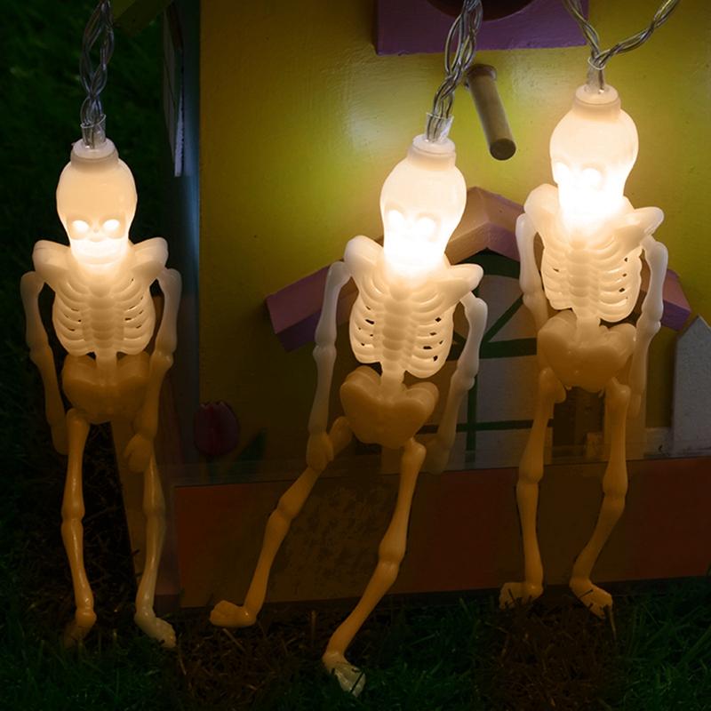 1pcs-Halloween-Decoration-String-Lights-20-LED-Skull-Skeleton-light-Hallowe-H3V5 thumbnail 4