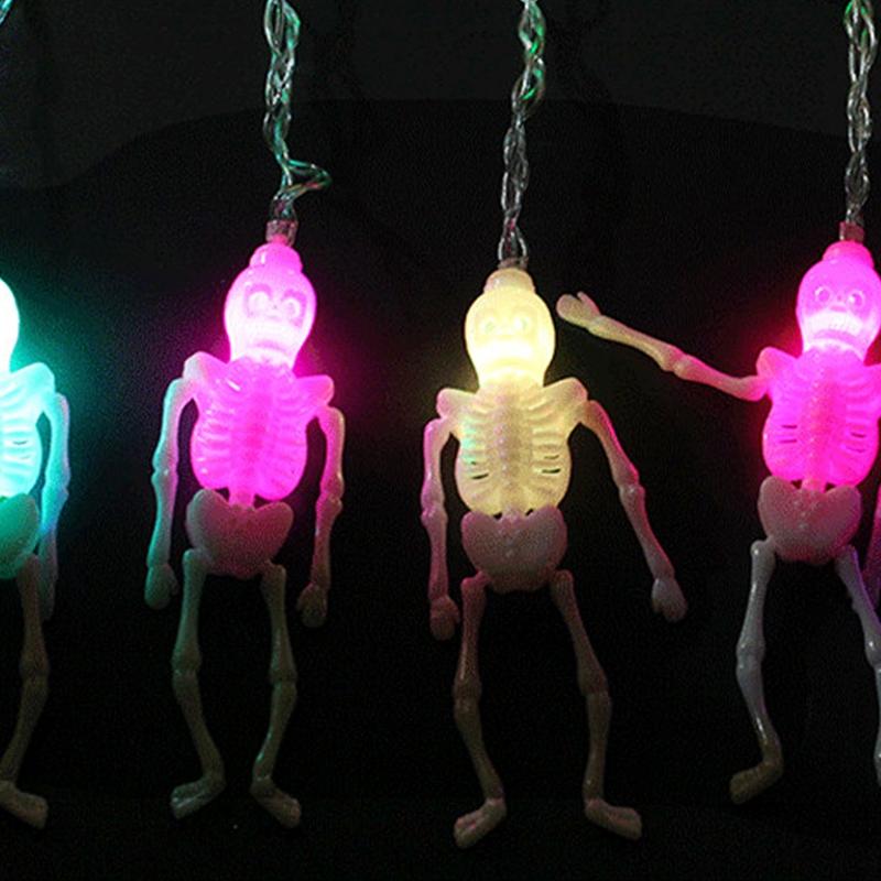 1pcs-Halloween-Decoration-String-Lights-20-LED-Skull-Skeleton-light-Hallowe-H3V5 thumbnail 6