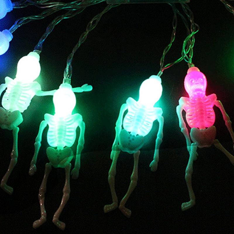 1pcs-Halloween-Decoration-String-Lights-20-LED-Skull-Skeleton-light-Hallowe-H3V5 thumbnail 9