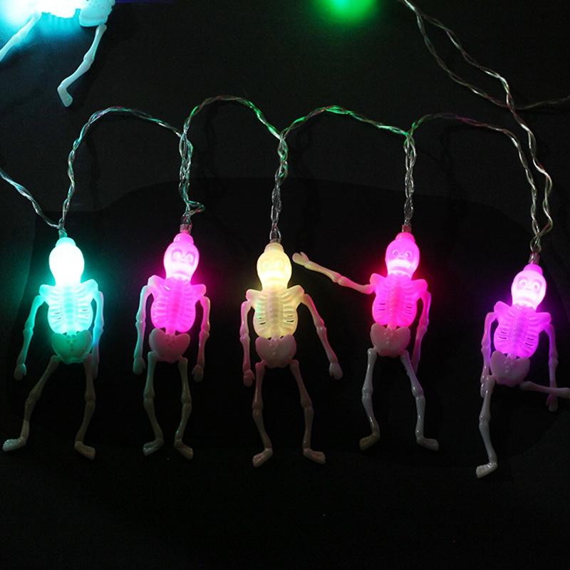1pcs-Halloween-Decoration-String-Lights-20-LED-Skull-Skeleton-light-Hallowe-H3V5 thumbnail 10