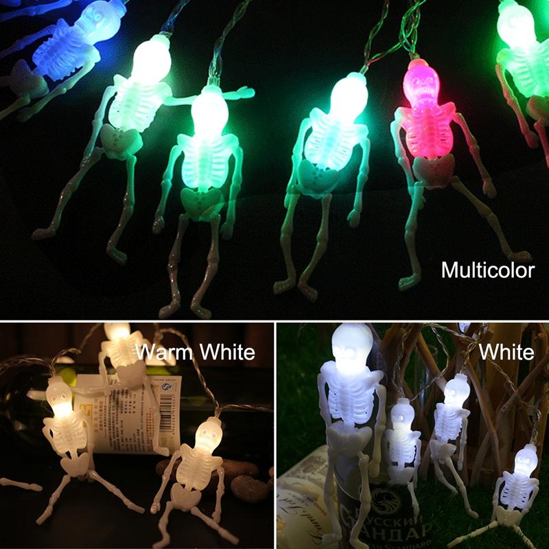 1pcs-Halloween-Decoration-String-Lights-20-LED-Skull-Skeleton-light-Hallowe-H3V5 thumbnail 11