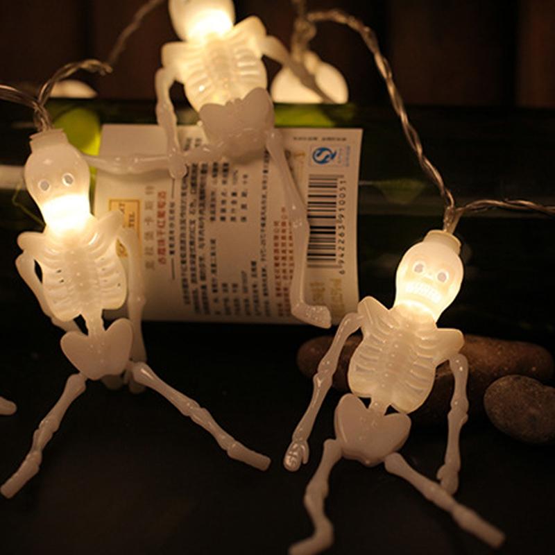 1pcs-Halloween-Decoration-String-Lights-20-LED-Skull-Skeleton-light-Hallowe-H3V5 thumbnail 16