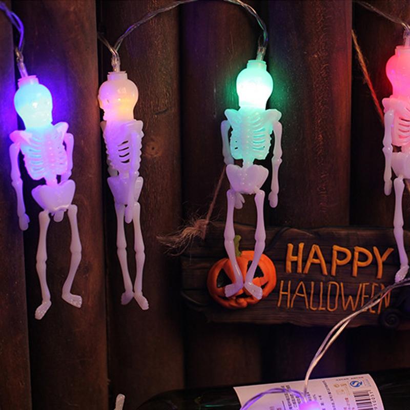 1pcs-Halloween-Decoration-String-Lights-20-LED-Skull-Skeleton-light-Hallowe-H3V5 thumbnail 23