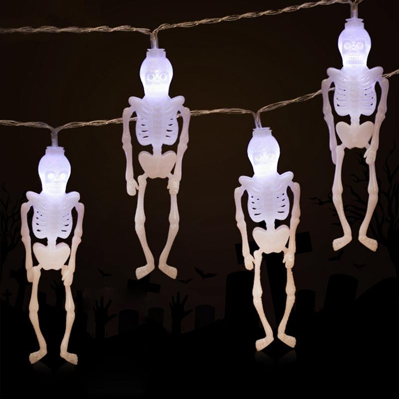 1pcs-Halloween-Decoration-String-Lights-20-LED-Skull-Skeleton-light-Hallowe-H3V5 thumbnail 28