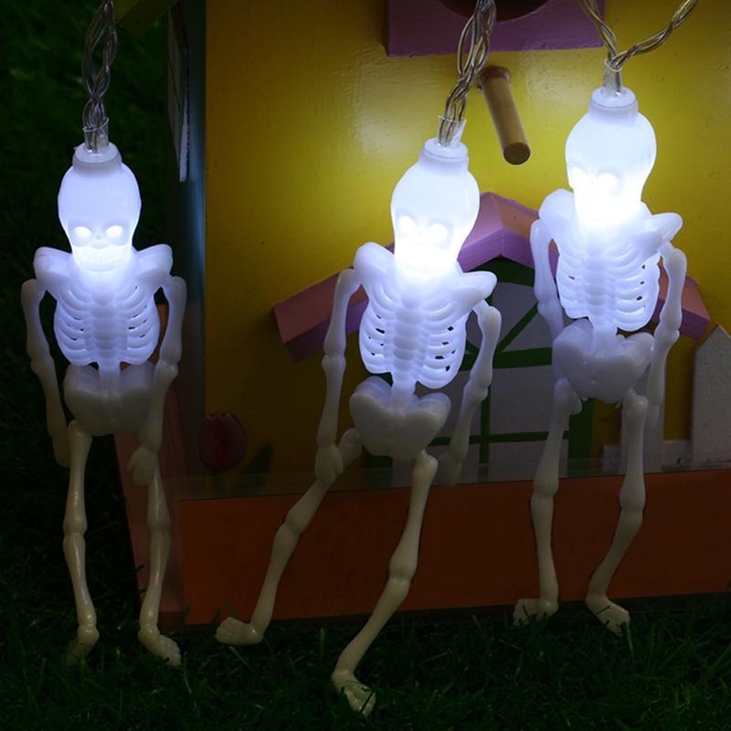 1pcs-Halloween-Decoration-String-Lights-20-LED-Skull-Skeleton-light-Hallowe-H3V5 thumbnail 29