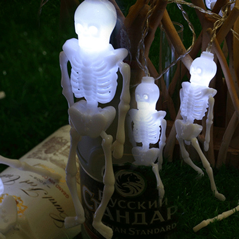 1pcs-Halloween-Decoration-String-Lights-20-LED-Skull-Skeleton-light-Hallowe-H3V5 thumbnail 30