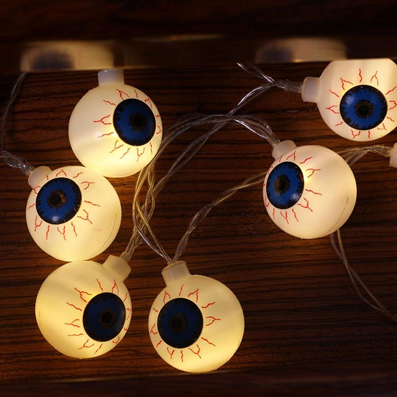 1pcs-Halloween-Solar-energy-Decoration-String-Lights-20-LED-Eyes-Lights-Fai-D8A4 thumbnail 5