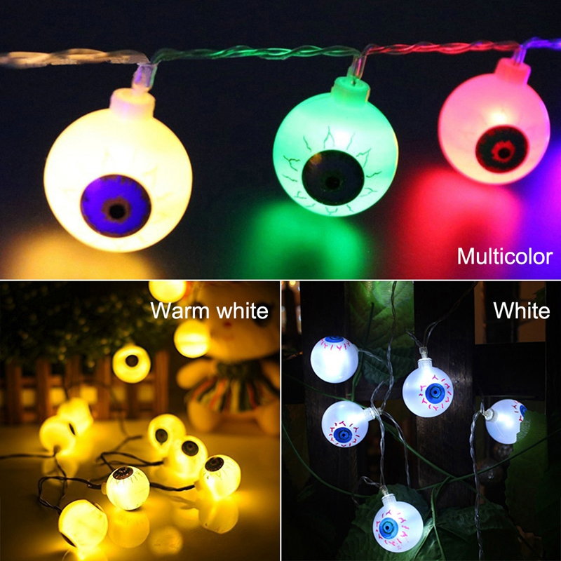 1pcs-Halloween-Solar-energy-Decoration-String-Lights-30-LED-Eyes-Lights-Fai-Q2X5 thumbnail 9