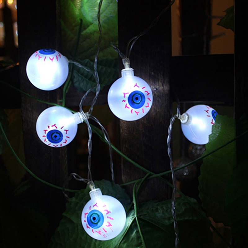 1pcs-Halloween-Solar-energy-Decoration-String-Lights-30-LED-Eyes-Lights-Fai-Q2X5 thumbnail 16