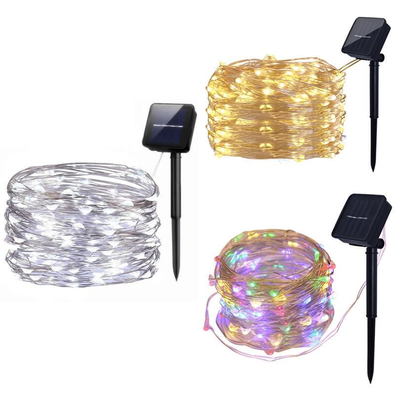 Luces-de-Cadena-Solar-10M-100Led-Luces-de-Cadena-Al-Aire-Libre-Luces-de-Ca-4S5 miniatura 17