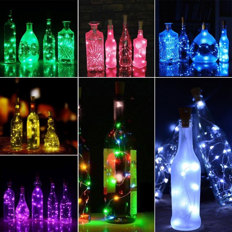 1-Pcs-Solaire-2M-Led-En-Forme-De-Liege-20-Led-De-Nuit-Fee-Guirlande-Lumineu-8J1 miniature 9