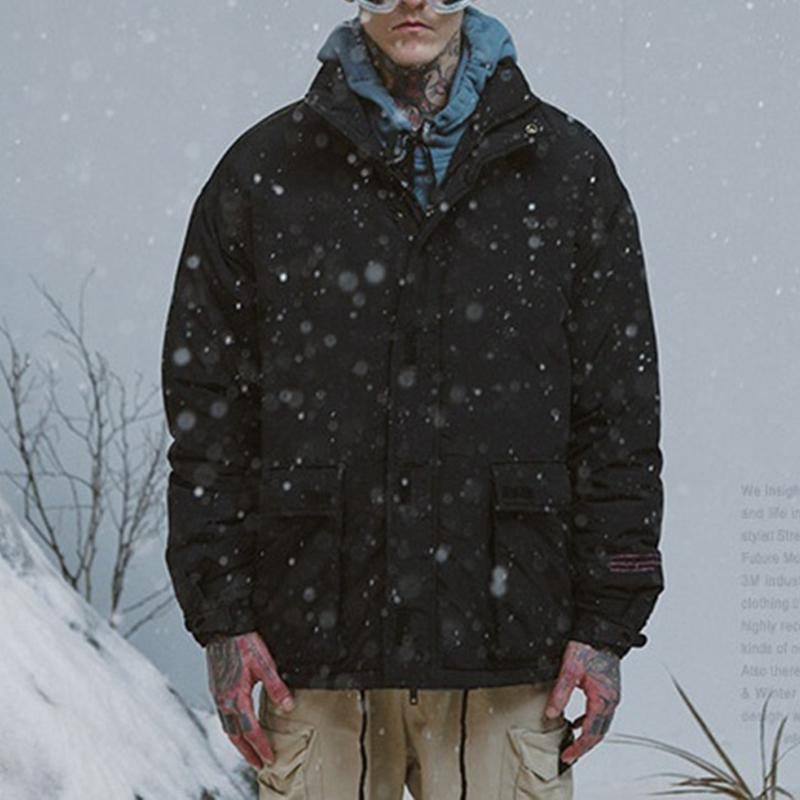 Abrigo-de-Invierno-de-Los-Hombres-Chaqueta-Calida-Abrigo-Con-Cremallera-Par-T5Q8 miniatura 24