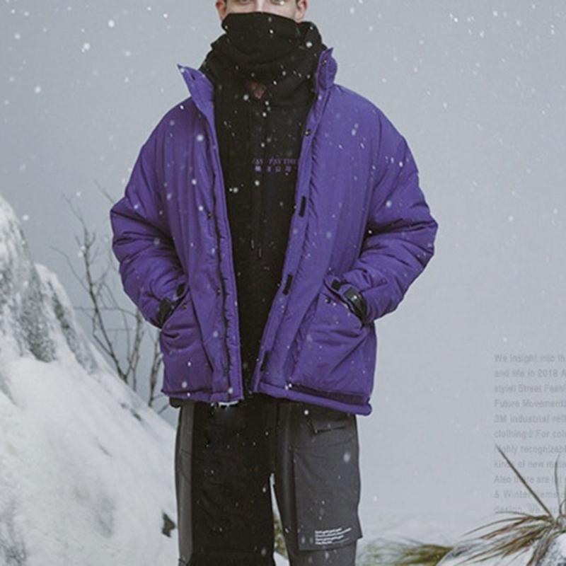 Abrigo-de-Invierno-de-Los-Hombres-Chaqueta-Calida-Abrigo-Con-Cremallera-Par-T5Q8 miniatura 40