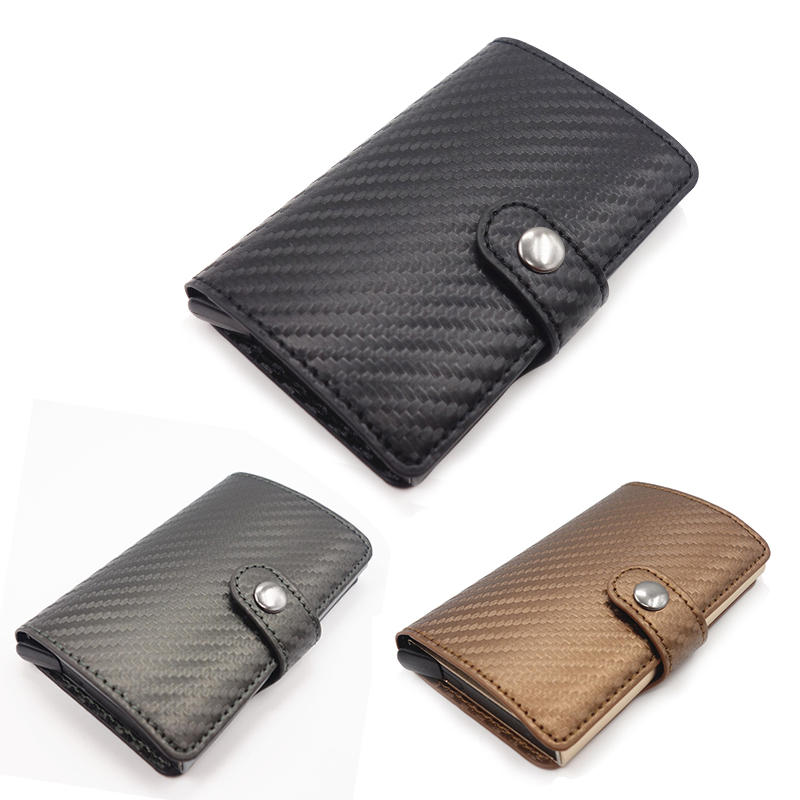Men and women rfid credit card holder id business card case wallet description material aluminum alloy pu carbon fiber color blackgraygold size 96cmx62cmx15cm wallet discount 20 off open cover cover type bag reheart Choice Image