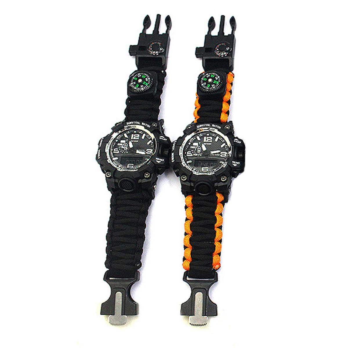 Armbanduhren 7 In 1 Multifunktionsmode Im Freien Sport Elektronische Uhr Handgewebte I1h7 Volumen Groß Uhren & Schmuck 1x