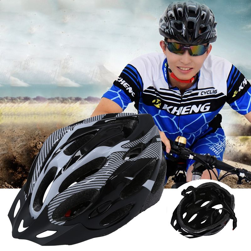 schwarz grau fahrradhelm mountainbike helm fuer maenner. Black Bedroom Furniture Sets. Home Design Ideas