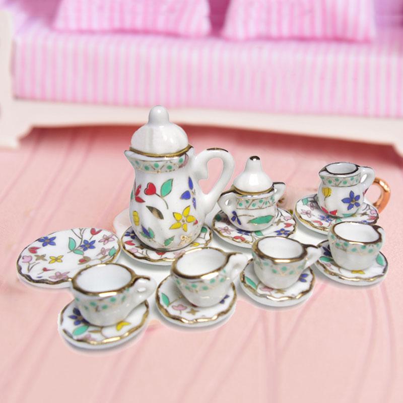 15 stueck miniatur puppenhaus ess geschirr porzellan tee set geschirr cup t u9v5 ebay. Black Bedroom Furniture Sets. Home Design Ideas