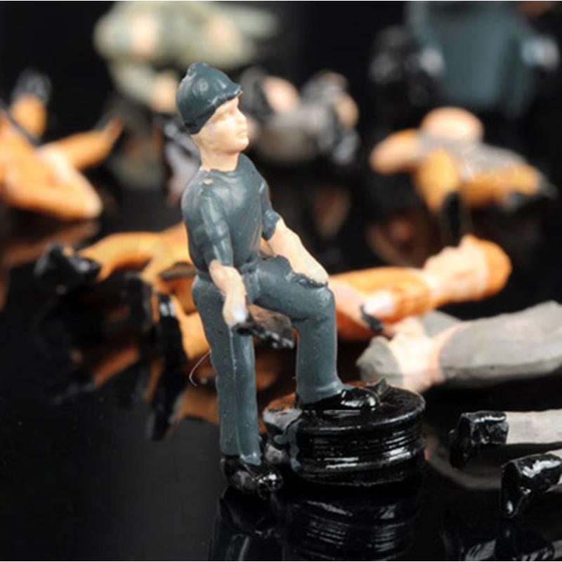 25 Stueck Bemalte Figuren 1:87 Eisenbahner Miniaturen mit Eimer und Leiter Y9A5