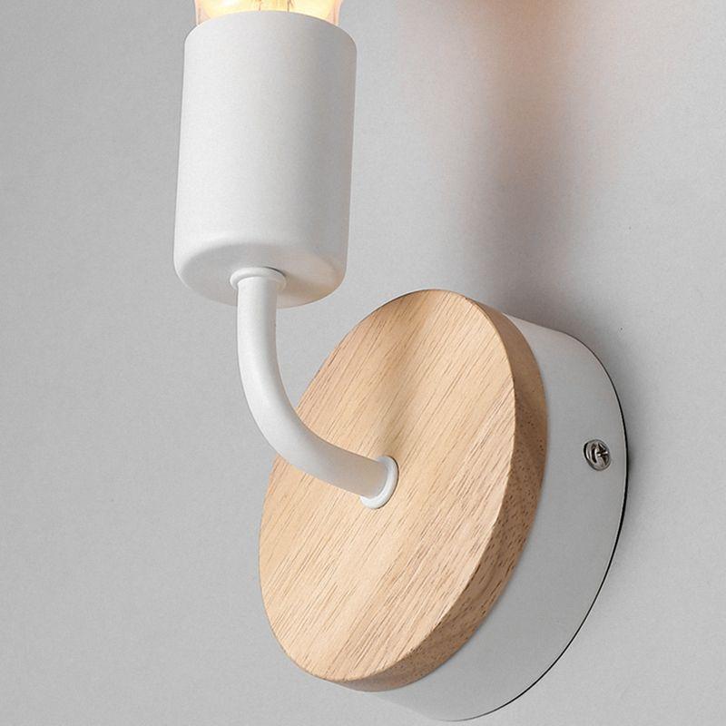 Petite-lampe-murale-en-bois-Lampe-Murale-Moderne-Simple-Lampe-Industrielle-e-7G8 miniature 17