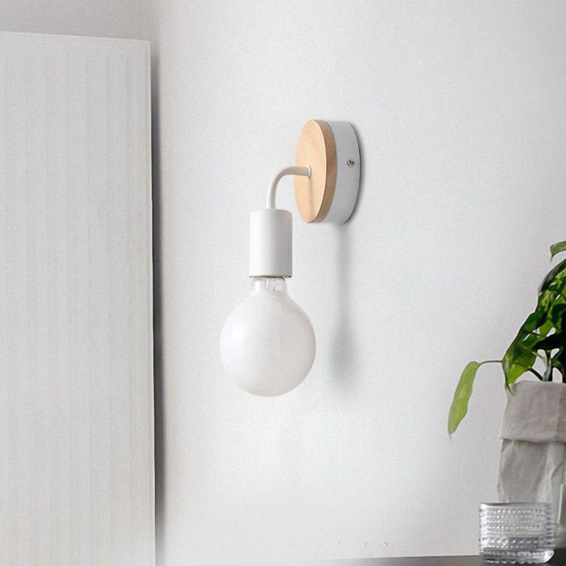 Petite-lampe-murale-en-bois-Lampe-Murale-Moderne-Simple-Lampe-Industrielle-e-7G8 miniature 20