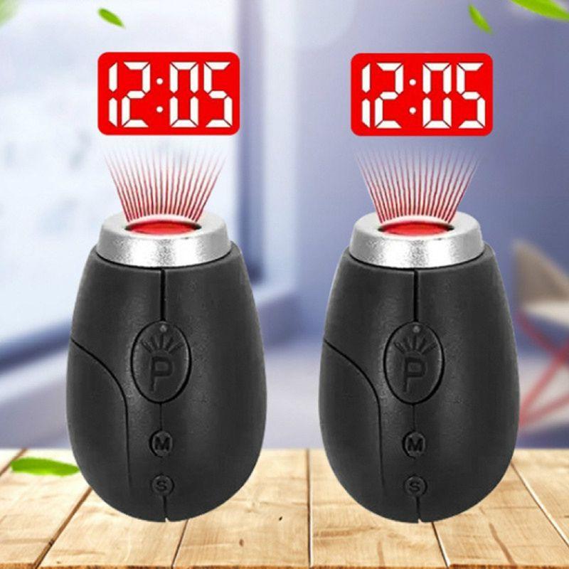 Creative projection electronic clock LED digital clock Mini Portable Projec I8Q4