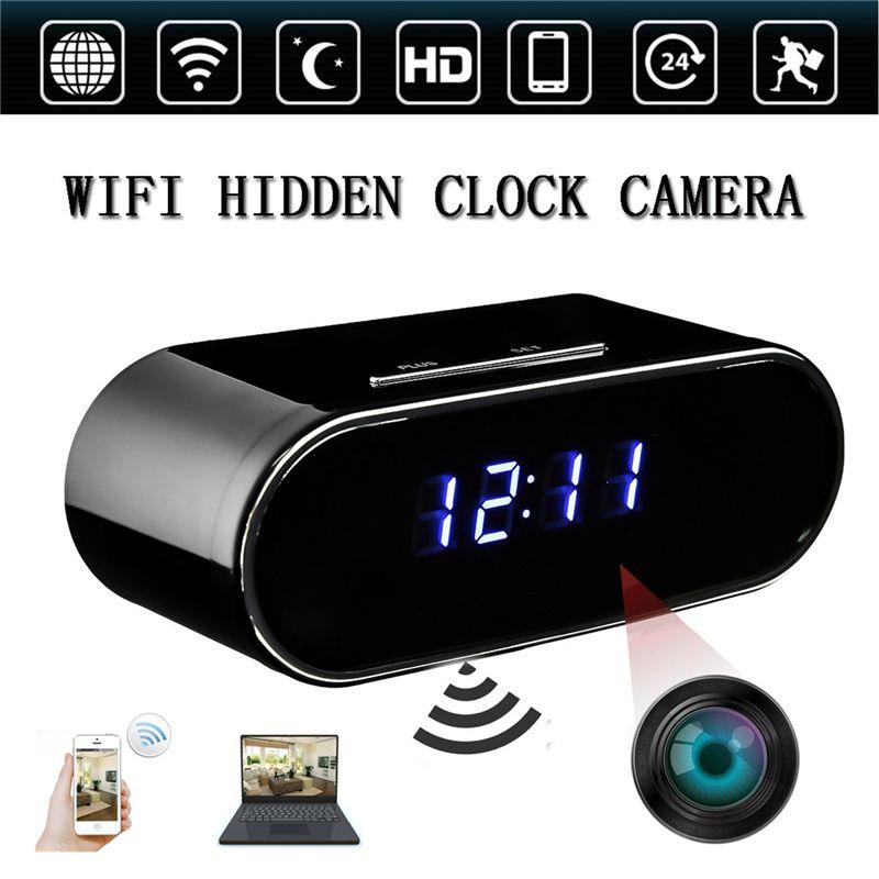 WIFI-Reloj-Elipse-Alarma-de-espejo-HD-inalambrica-1080P-Mini-camara-oculta-Camar