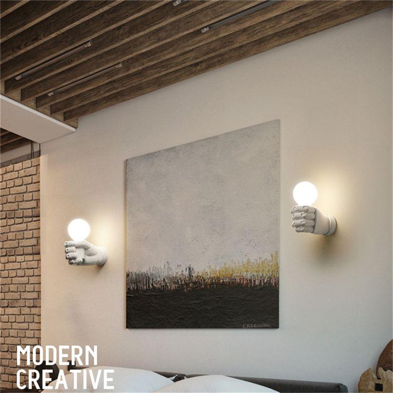 blanche-applique-murale-en-resine-creative-retro-Lumiere-industrielle-de-Lof-9F9 miniature 9